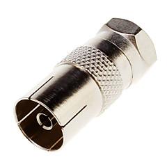 Galwanicznie F-kabel do TV-Konwerter Wtyczka kabla