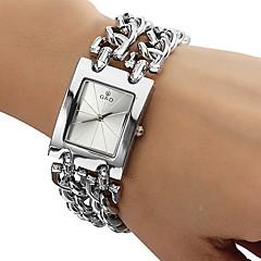 Mulheres Relógio de Moda Bracele Relógio Quartzo Aço Inoxidável Banda Prata Prata