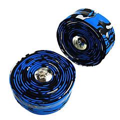 1 Paar Fixed Gear Road Bike / fiets Blauw + Zwart Stuur Strap