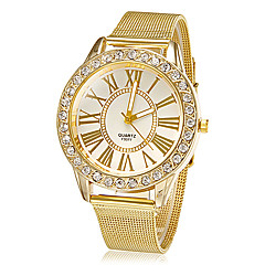 cheap Floral Watches-Women's Wrist watch Dress Watch Fashion Watch Quartz Rhinestone Imitation Diamond Alloy Band Flower Sparkle Gold