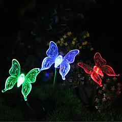 1pcs luz de estaca de jardín de mariposa color cambiante solar
