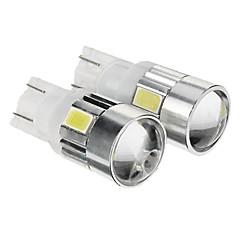 T10 コールドホワイト 1W SMD 5730 6000 計器灯 ライセンスプレートライト 方向指示灯 ブレーキライト