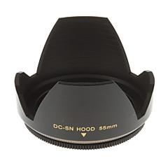 55mm האוניברסלי העדשה הוד למצלמה (שחור)