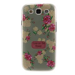 abordables Galaxy S3 Carcasas / Fundas-Luz Patrón Peony verde cubierta de la caja protectora dura de plástico para el Samsung Galaxy S3 I9300