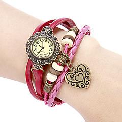 preiswerte Damenuhren-Damen Armbanduhren für den Alltag / Armband-Uhr Japanisch Echtes Leder Band Blume / Böhmische Lila