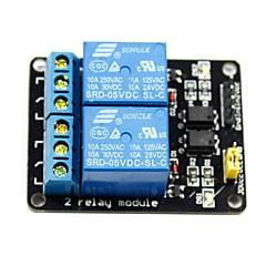 (Arduinoのための)のための2チャンネル5Vハイレベルトリガリレーモジュール(公式(Arduinoのための)ボードで動作します)