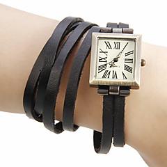 お買い得  レディース腕時計-女性用 リストウォッチ 日本産 本革 バンド ボヘミアンスタイル / ファッション ブラック / グリーン / カーキ