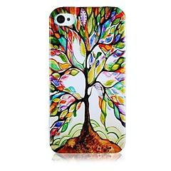 Дерево Восстановление Pattern Силиконовый мягкий чехол для iPhone4/4S