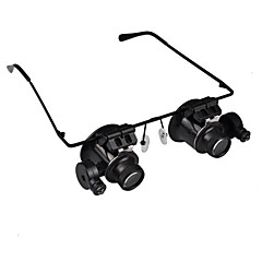 cheap Special Deals-20X Magnifier Magnifying Eye Glasses Jeweler Watch Repair LED Light Glasses Loupe Lens
