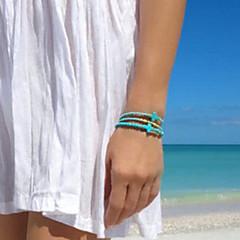 preiswerte Armbänder-Damen Türkis Perlenbesetzt Strang-Armbänder - Türkis Kreuz Europäisch Armbänder Blau Für Party Alltag Normal