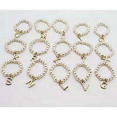 preiswerte Ringe-Damen Bandring - Perle, Aleación Personalisiert, Erste Schmuck 7 X / Y / Z Für Party Alltag Normal