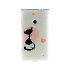 إلى نوكيا حالة نموذج غطاء غطاء خلفي غطاء قطة ناعم TPU Nokia Nokia Lumia 520