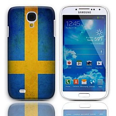 Vintage La bandera de Suecia caso duro del diseño con el paquete de 3 protectores de pantalla para Samsung Galaxy S4 mini-I9190