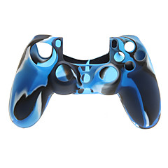 Navy Blue Protctive Silicone Case and 2 PCS Pink Thumb Stick Grips for PS4