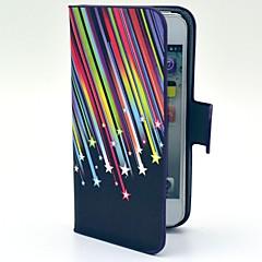 Недорогие Кейсы для iPhone 5-Кейс для Назначение iPhone 5 Кейс для iPhone 5 Кошелек / Бумажник для карт / со стендом Чехол Градиент цвета Твердый Кожа PU для iPhone SE / 5s