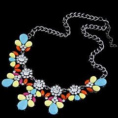 preiswerte Halsketten-Damen Kristall Statement Ketten - Strass Modisch Hellblau, Regenbogen, Leicht Grün Modische Halsketten Schmuck 1pc Für Hochzeit, Party, Alltag