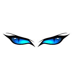 preiswerte Auto Aufkleber-Blue Eye Pattern Dekorative Auto-Aufkleber