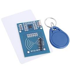 お買い得  センサー-rfid-rc522 rfidモジュールrc522キットs50 13.56 mhzタグ付き6cm書き込み& ラズベリーパイのために読む