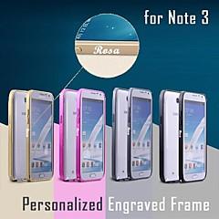 Недорогие Чехлы и кейсы для Galaxy Note 3-Бампер металлический с именной гравировкой для Samsung Galaxy Note 3 N9000