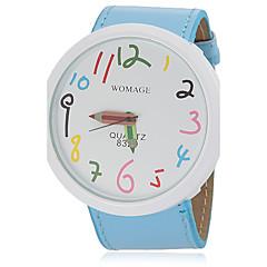preiswerte Tolle Angebote auf Uhren-Damen Quartz Armbanduhr Armbanduhren für den Alltag PU Band Charme Modisch Blau Orange Braun Rosa Lila Gelb