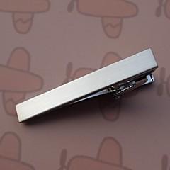 abordables Pisacorbatas-clips de lazo los 4.3cm de la vendimia de los hombres (plata) (1 unidad) de la joyería