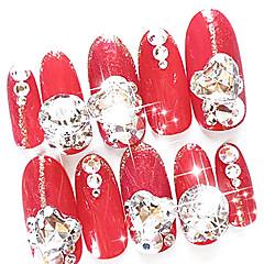 10db MiXs Pattern Glitter Glass Drill Nail Art dekoráció