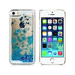 Недорогие Кейсы для iPhone 5-Кейс для Назначение iPhone 5 Apple Кейс для iPhone 5 Движущаяся жидкость Кейс на заднюю панель Сияние и блеск Твердый ПК для iPhone SE/5s