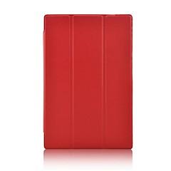 preiswerte Tablet-Hüllen-Hülle Für Hüllen (Full Body) Hüllen mit Ständer Ganzkörper-Gehäuse Volltonfarbe Hart PU-Leder für
