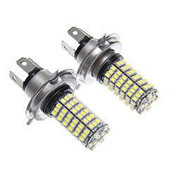 cheap LED Car Bulbs-H4 120x3528SMD White Light LED for Headlight Bulb (2pcs)