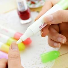 Nail herramienta de uñas de arte polaco Removal Pen con 4 extremidades (color al azar)