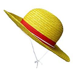 모자/ 캡 에서 영감을 받다 One Piece Monkey D. Luffy 에니메이션 코스프레 악세서리 모자 옐로 새끼 남성