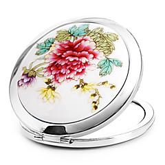1 PC portátiles y cerámica de metal plegable de embellecer las características Espejo cosmético