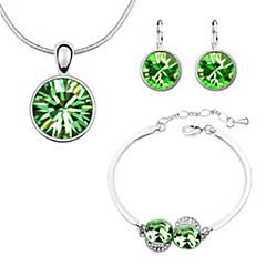 abordables Juegos de Joyería-Mujer Conjunto de joyas - Brillante Incluir Rosa / Verde / Azul Para Boda / Fiesta / Diario
