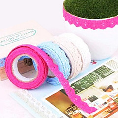 Fabric Lace Cloth Album Tape(Random Color)