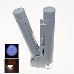 bærbare LED belyst 150x mikroskop med streg (2 x aa)