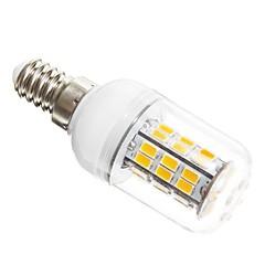 5W E14 LED a pannocchia T 42 leds SMD 5730 Bianco caldo 450-500lm 3000K AC 12V