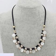 preiswerte Halsketten-Damen Opal / Synthetischer Opal Stränge Halskette - Leder, Diamantimitate Schlange Luxus Modische Halsketten Für Hochzeit, Party, Alltag