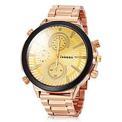 JUBAOLI Masculino Relógio Elegante Quartzo Banda Dourada Preto Dourado