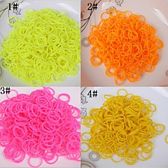 BaoGuang®600pcs Rainbow Color Loom Solid Color Rubber Band(1pcs Crochet,24pcs Hook,Assorted Colors)