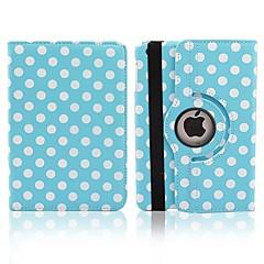 お買い得  iPad  Air用ケース、カバー-丸いドット回転可能なPUのiPadエア用スタンドとフルボディケース(アソートカラー)