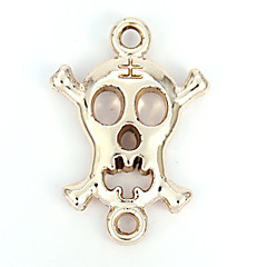 Alloy Skull DIY Charms Pendants for Bracelet & Necklace(10 PCS Per Package)