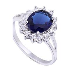 vrouwen nieuwe aankomst vergulde hot selling elegante ovale zirkonia ringen