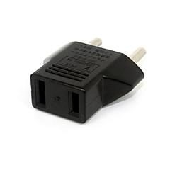 220v 240v oss usa til eu euro europa strømkontakten veggplugg Kalkulator reise adapter svart