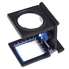 ZW-9005A portátil Folding 10X Tecido Verificando Magnifier
