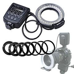 Meike 600D 550D 500D D5100 D3100 D3000 D80 40D D700 K-R D90 450D 7D 50D D7000 K-X E-5 E-3 Universell D-SLR D70 Ringblixt Blixtsko