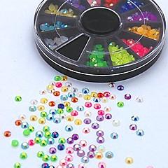 500pcs karışımı renk şeker ab akrilik yapay elmas tekerlek tırnak sanat dekorasyon