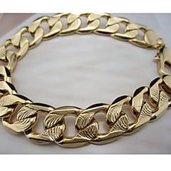 preiswerte Armbänder-Herrn Ketten- & Glieder-Armbänder - vergoldet Armbänder Golden / Rotgold Für Alltag Normal Sport