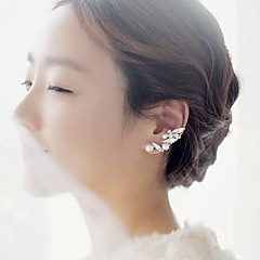 お買い得  イヤリング-女性用 スタッドピアス  -  ジェムストーン, 真珠 リーフ シンプルなスタイル, ファッション スクリーンカラー 用途