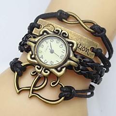 preiswerte Tolle Angebote auf Uhren-Damen Armband-Uhr Schlussverkauf PU Band Heart Shape / Böhmische / Modisch Schwarz / Weiß / Blau