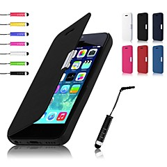 Недорогие Кейсы для iPhone 5с-Кейс для Назначение iPhone 5c / Apple Чехол Твердый Кожа PU для iPhone 5c